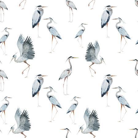 素敵な水彩画サギ綺麗な模様 写真素材 - 42715427