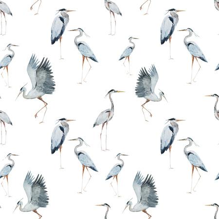 素敵な水彩画サギ綺麗な模様 写真素材 - 42715429