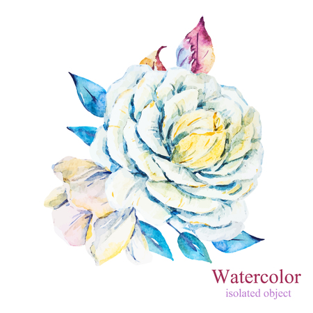 fashion and beauty: Beautiful vector image with nice watercolor flowers