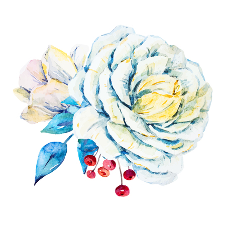 painted: Beautiful vector image with nice watercolor flowers