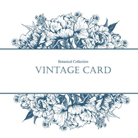 ard: Beautiful vector image with nice vintage floral ard