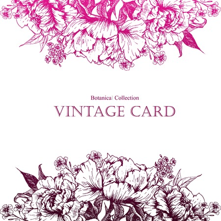 vintage floral: Beautiful vector image with nice vintage floral ard