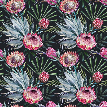 tropical protea pattern Stock fotó