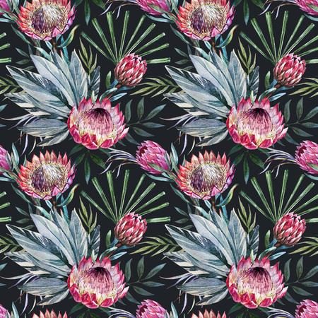tropische protea patroon