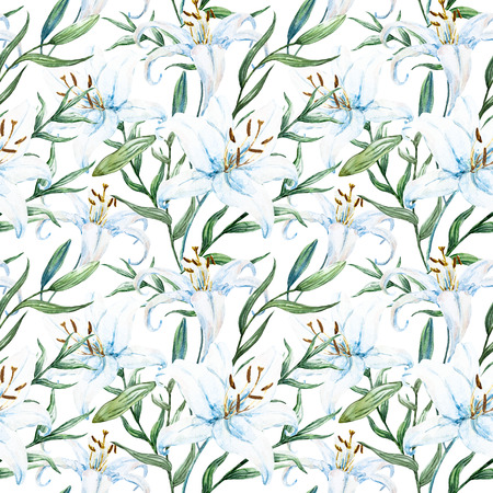 lilly: tropical watercolor lilly pattern