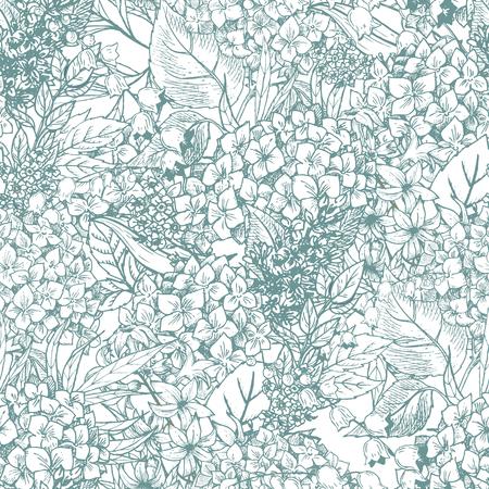 좋은 손으로 그린 꽃 패턴 아름 다운 벡터 이미지