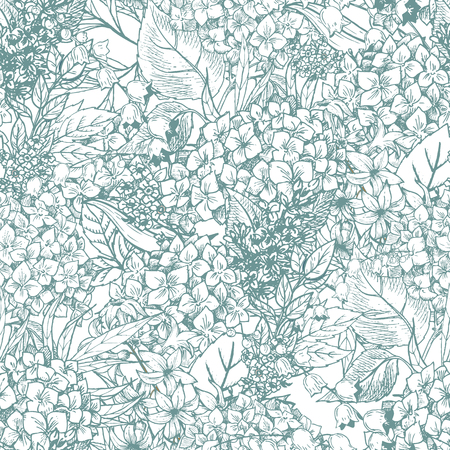 Beautiful vector image with nice hand-drawn floral pattern