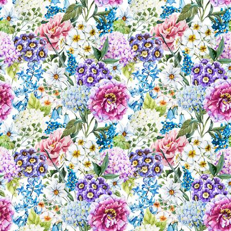 motif floral: Aquarelle motif floral