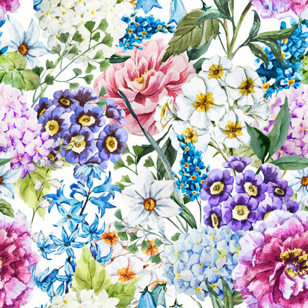 vector image: Beautiful vector image with nice watercolor floral pattern