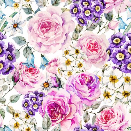 Flores de acuarela  Foto de archivo - 49598960