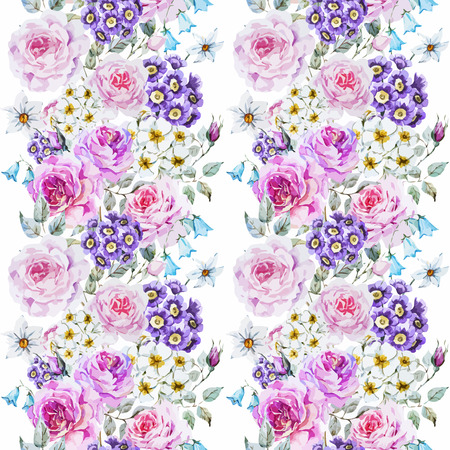 english rose: watercolor flowers