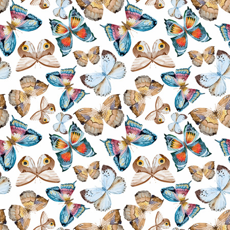 famous paintings: illustrated watercolor  butterflies