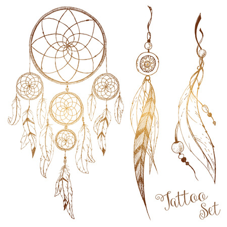Beautiful image with nice hand drawn dream catcher