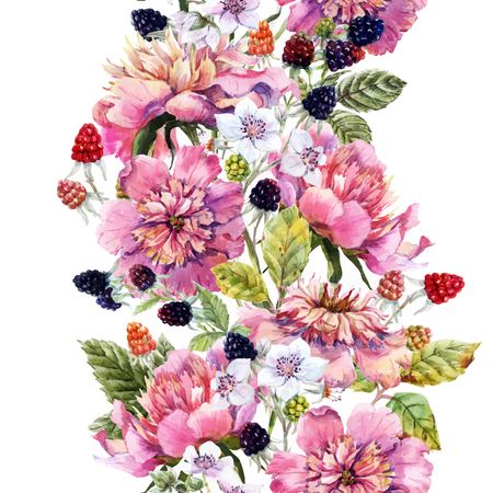 Beautiful image with nice watercolor floral composition