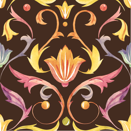 vintage pattern: Beautiful pattern with nice victorian watercolor ornament