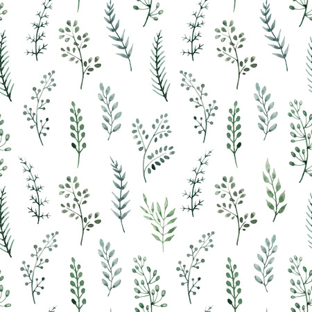 Beautiful pattern with nice hand drawn watercolor flowers Stock Illustratie
