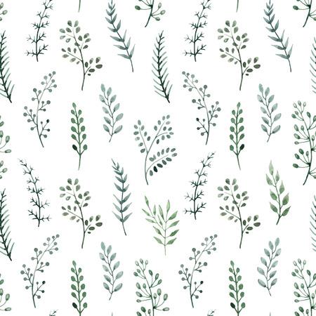 Mooi patroon met mooie hand getekende aquarel bloemen Vector Illustratie