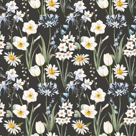 vecteur Aquarelle motif floral