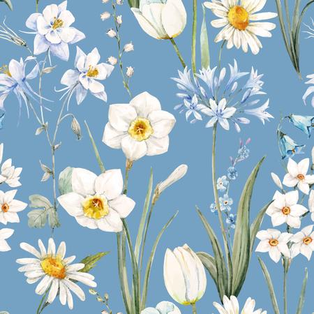 Watercolor vector floral pattern Zdjęcie Seryjne - 71243459