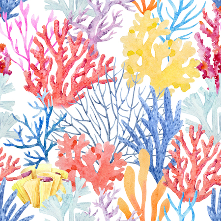 Watercolor colar pattern