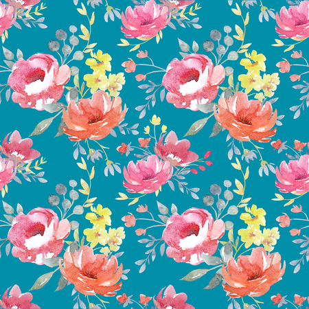 fabric patterns: Watercolor floral pattern