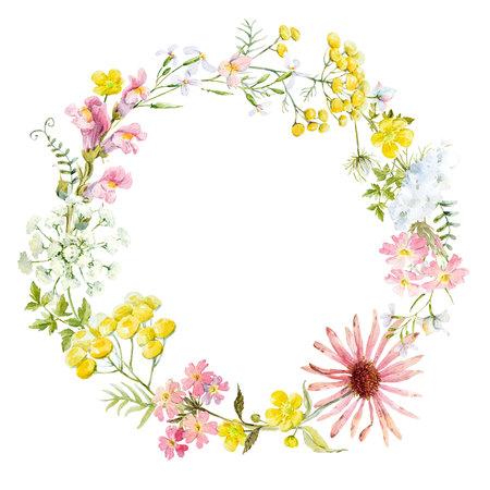 Waterkleurige bloemenkrans