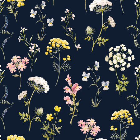 textille: Watercolor floral pattern