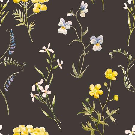 Waterverf bloemenpatroon