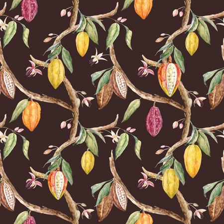 Watercolor cacao patroon