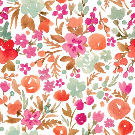 Waterverf vector abstract bloemenpatroon Stock Illustratie
