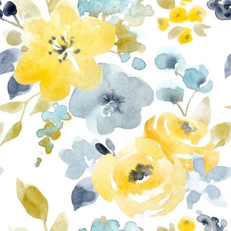 수채화 플로랄 원활한 패턴