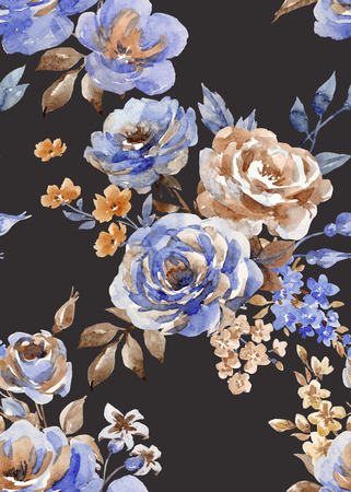Seamless abstract floral vector pattern