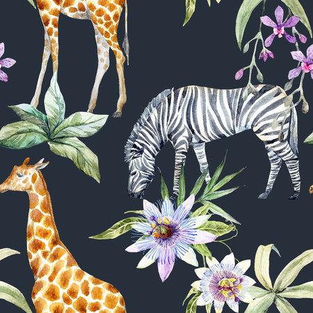 熱帯の野生動物のパターン