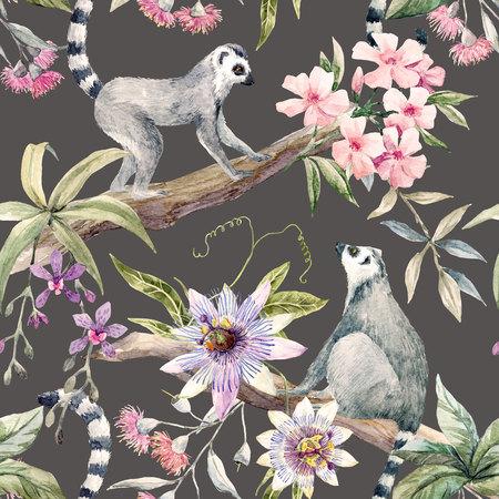 Tropical wildlife pattern