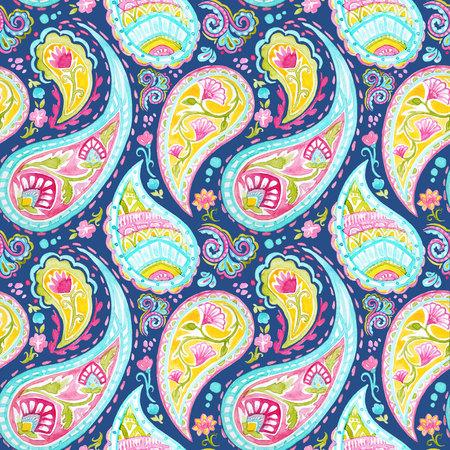 Aquarell native indische Muster Standard-Bild - 82818687