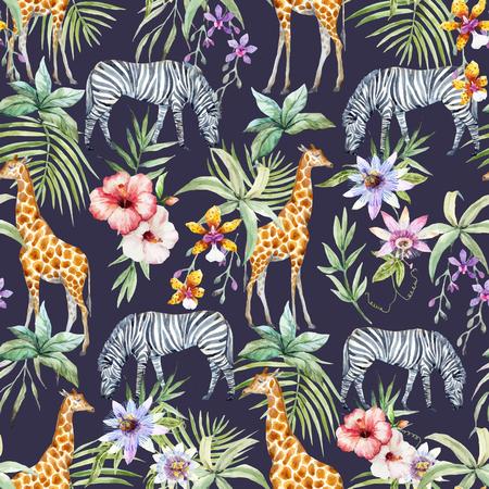 熱帯の野生動物のベクトル パターン