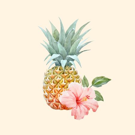 Aquarel vector ananas fruit