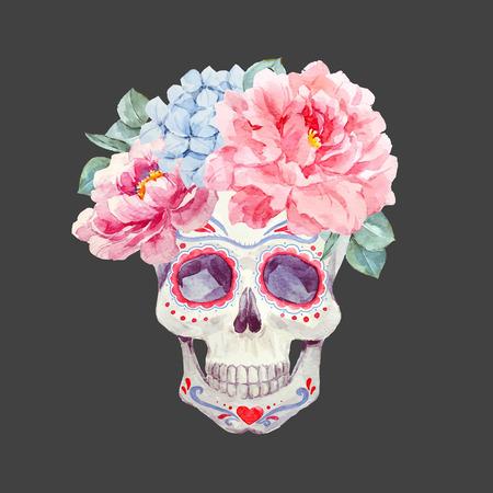 Nizza cranio vettore acquerello Archivio Fotografico - 83357030