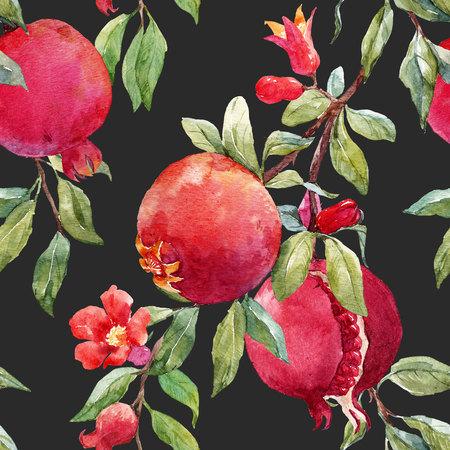 석류 과일 무늬