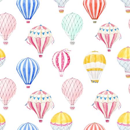 水彩空気風船ベクトル パターン  イラスト・ベクター素材