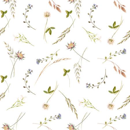 Modello vettoriale floreale acquerello