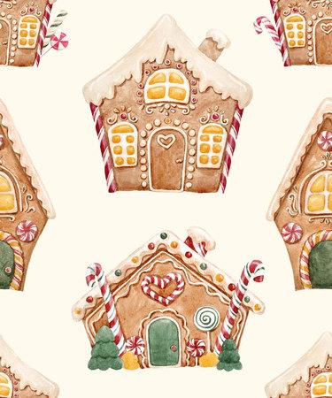 수채화 물감 크리스마스 패턴