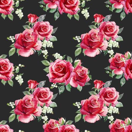 수채화 플로랄 패턴