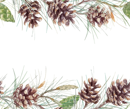 Watercolor fir cone. Ilustrace