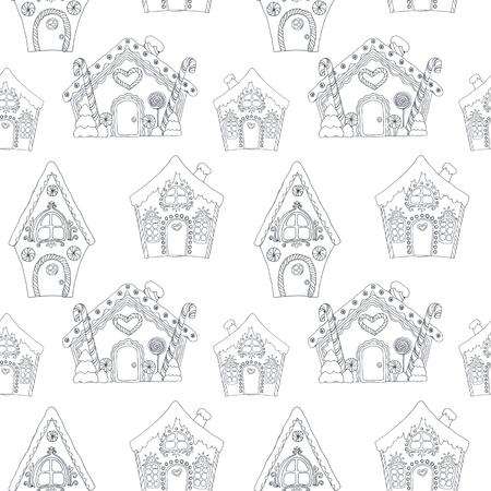 Kerst kleuren huizen patroon.