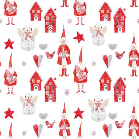 Nizza Aquarell Weihnachten Muster Vektorgrafik