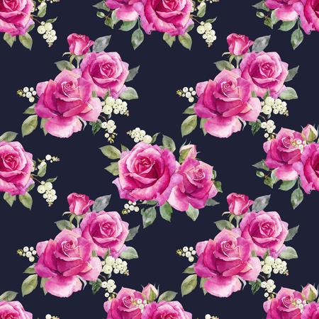 Watercolor floral vector pattern