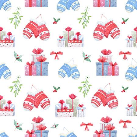 Christmas new year pattern Stock Photo