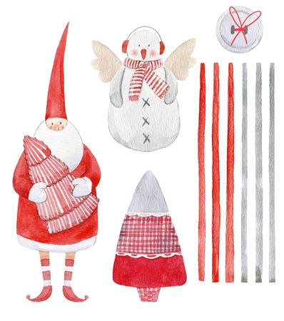 Nice watercolor christmas set