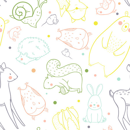 Baby vector pattern Illustration